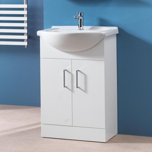 Alpha 650mm Base Unit & Basin (can be used with WC Units)
