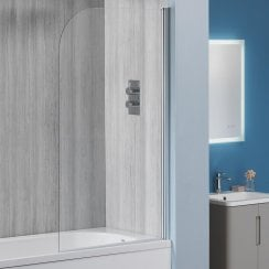 6mm Round Bath Screen - 1360 x 800mm