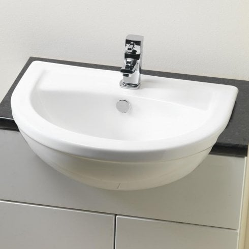 Alpha Carolina 520 x 420mm Semi-Recessed Basin