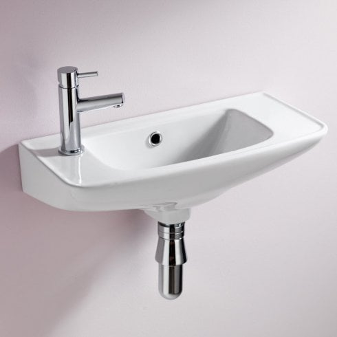 Alpha Ebony 510mm x 230mm Cloakroom Basin