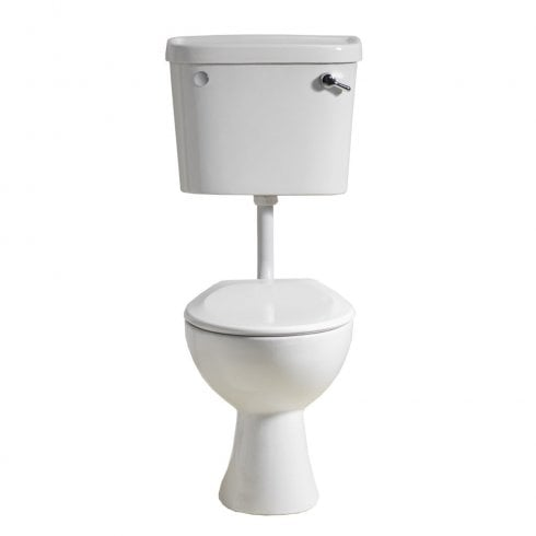 Alpha Ebony Low Level Lever WC including Soft Close Seat