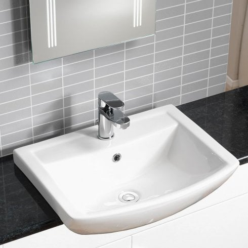 Alpha Eden 550 x 430mm Semi-Recessed Basin