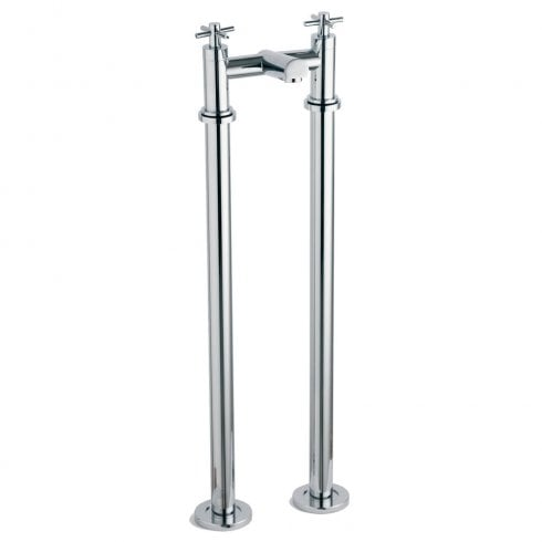 Alpha Trio Cross-Head Bath Filler with Tap Legs (2 Hole)