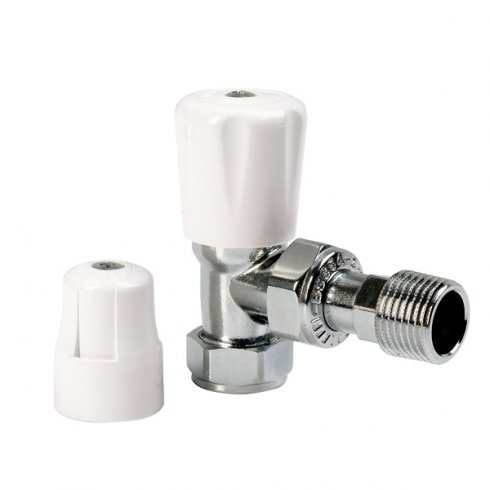 Altecnic Eclipse Manual Radiator Valves - Angled with WH and LS cap