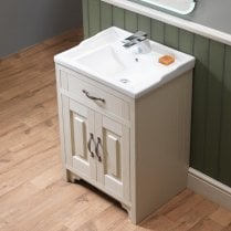 Grosvenor 800mm 2-door Base Unit & Nostalgic Basin - 450mm Depth*