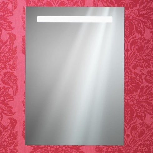 Ascent Mirrors Portland Mirror with Integrated LED Light Strip, Anti-Mist Pad & Sensor Switch - 600 x 700mm