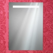Portland Mirror with Integrated LED Light Strip, Anti-Mist Pad & Sensor Switch - 600 x 700mm