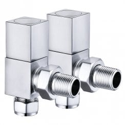Cubic Radiator Valves (pair)