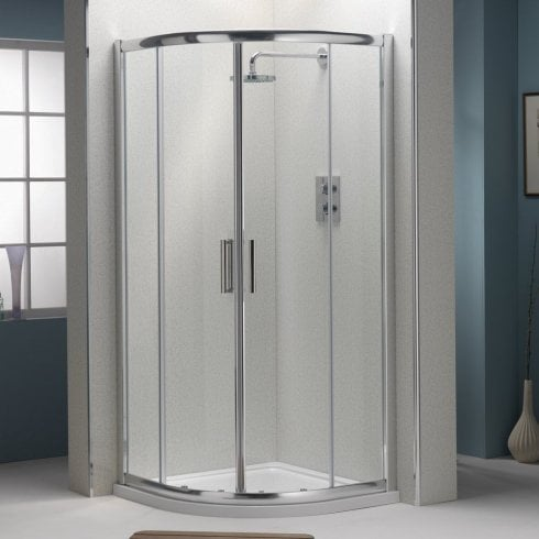 Ascent Showering 8mm 2-Door Quadrants with Easy-Clean Glass