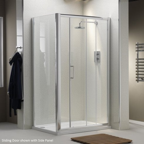 Ascent Showering 8mm Side Panels with Easy-Clean Glass