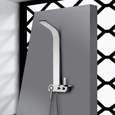 Ascent Showering Bologna Shower Column with Curved Shower Head & Shower Kit