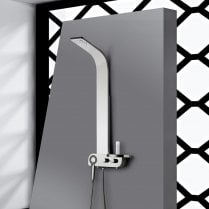 Bologna Shower Column with Curved Shower Head & Shower Kit