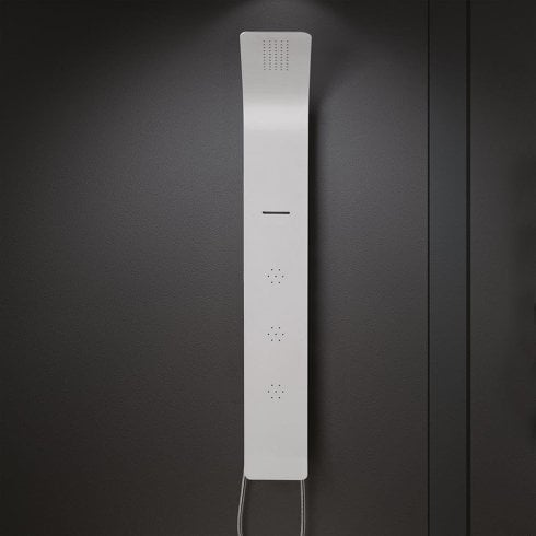Ascent Showering Florence Shower Column with Rainfall Head, Waterfall Spout, Body Jets & Shower Kit