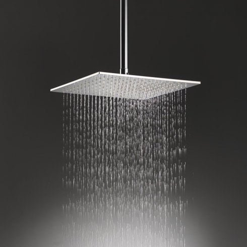Ascent Showering Nevada Large Square Shower Head & Ceiling Arm