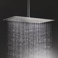 Nevada Rectangular Shower Head & Ceiling Arm
