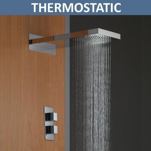 Ascent Showering Rainfall Shower Head & Valve