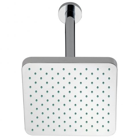 Ascent Showering Square Fixed Shower Head & Ceiling Arm