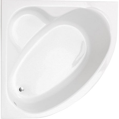 Ascent Superspec Idaho Corner Bath & Panel with Option 5 Whirlpool - 1200 x 1200mm