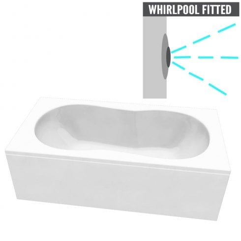 Ascent Superspec Indiana Bath with Option 1 Whirlpool - 1800 x 800mm & 1900 x 900mm