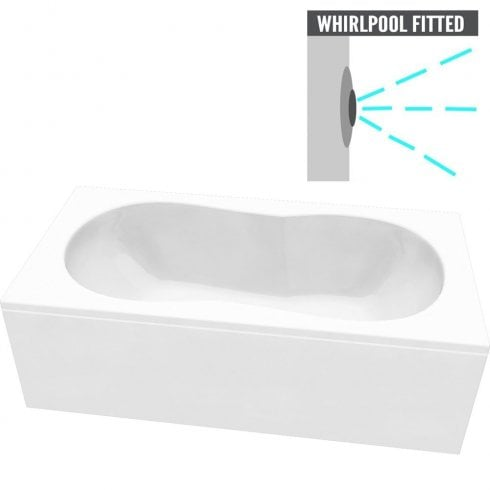 Ascent Superspec Indiana Bath with Option 3 Whirlpool - 1800 x 800mm & 1900 x 900mm