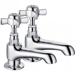 Edwardian Long Spout Basin Taps (Pair)