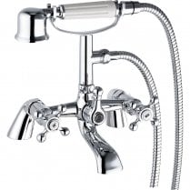 Victorian Bath Shower Mixer & Kit (2 Hole)