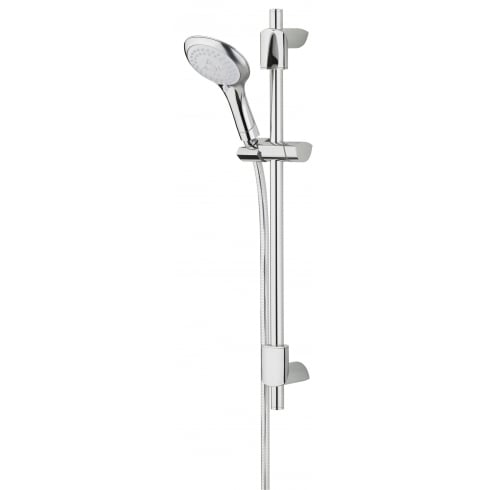 Bristan Evo Shower Kit with Multi-Function Rub Clean Handset ? Chrome Plated