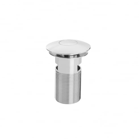 Bristan Round Push Basin Waste with Push Button Chrome Plated Slotted