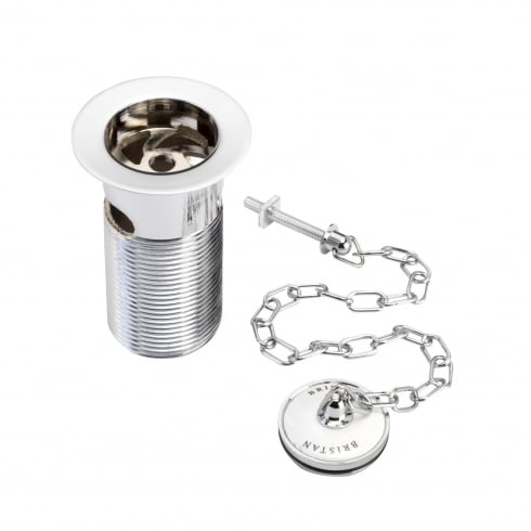 Bristan Traditional Basin Waste with Plug Chrome Plated Slotted