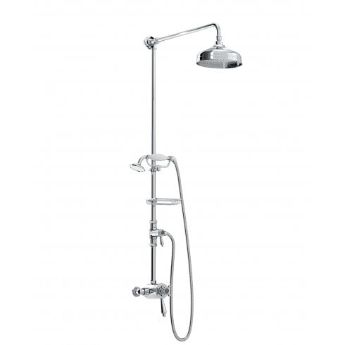 Bristan Trinity Exposed Concentric Chrome Shower Valve with Diverter and Rigid Riser Kit
