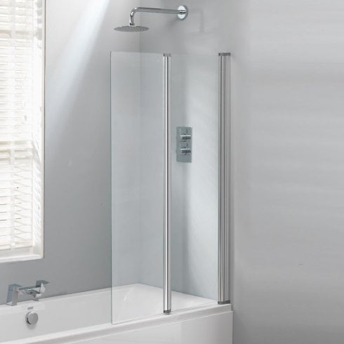 Classic Nouveau 2-Fold Bath Screen - 1400 x 860mm