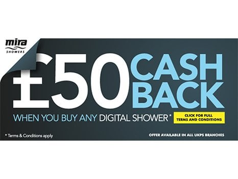 Mira Cashback on selected Digtal showers
