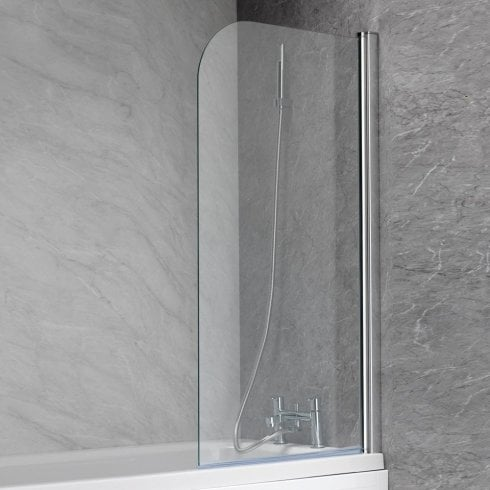 Genesis 700mm Curved Bath Screen - 1350 x 700mm
