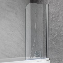 700mm Curved Bath Screen - 1350 x 700mm