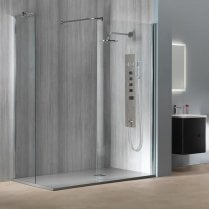 8mm Curved Showerwall with Easy-Clean Glass