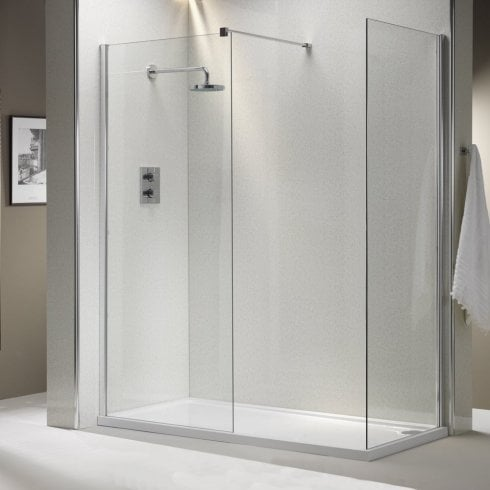 Genesis 8mm Shower Wall with Easy-Clean Glass