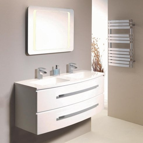 Genesis Deluxe Opal 1200mm Wall-Hung Base Unit & Basin