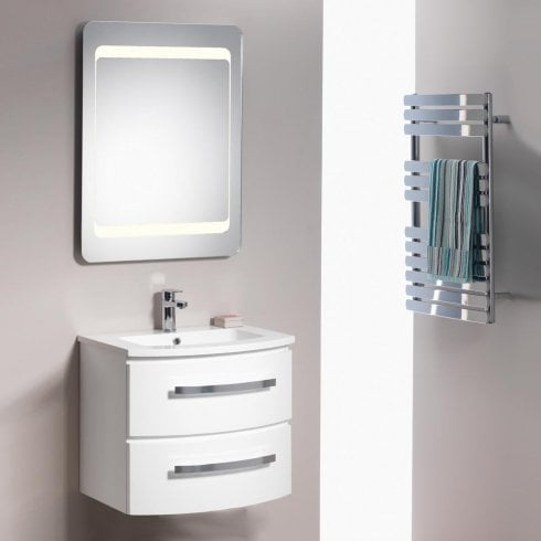 Genesis Deluxe Opal 800mm Wall-Hung Base Unit & Basin