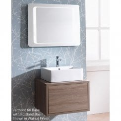 Vermont 600mm Wall-Hung Base Unit & Basin