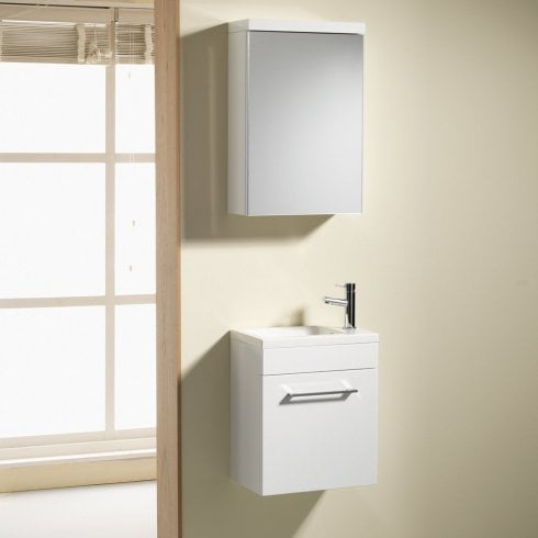 Genesis Eden 400mm Wall Hung Base Unit & Basin