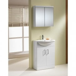Eden 500 & 600mm Slimline Base Units & Basins - 250mm Depth (can also be used with WC Unit)