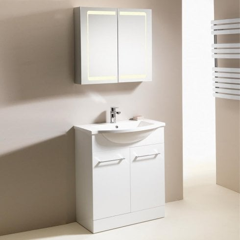 Genesis Eden 700mm 2-Door Floorstanding Basin & Base Unit
