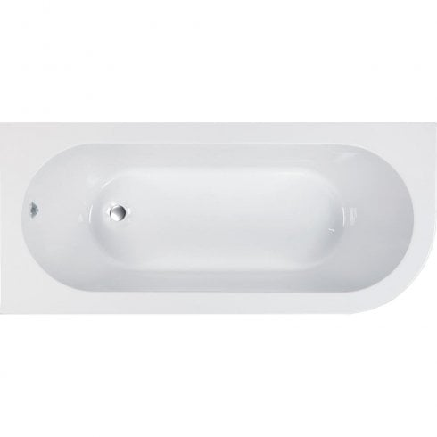 Genesis Kansas Offset Bath & Skirt with Option 4 Whisper Air System - 1700 x 725mm
