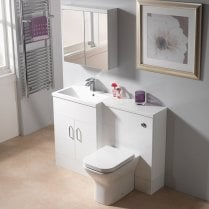 1200 1-Piece Square Offset Basin Combination