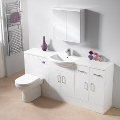 1800 1-Piece Centre Basin Combination - 350mm Depth