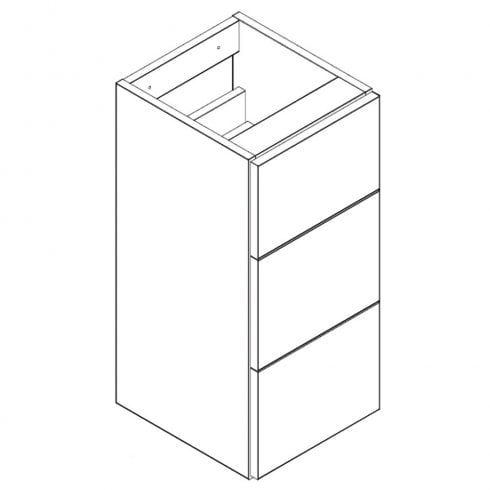 Genesis Q-Line 300mm 3-Drawer Base Unit - 345mm Depth