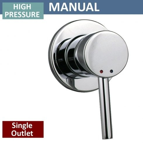 Genesis Round Manual Shower Valve - 1 Outlet (controls 1 function)