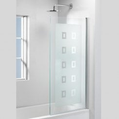 Square Frosted Bath Screen - 1500 x 800mm