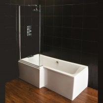 Vermont 'L' Shaped Shower Bath, Screen & Front Panel (Standard & Superspec) - 1500 & 1700mm