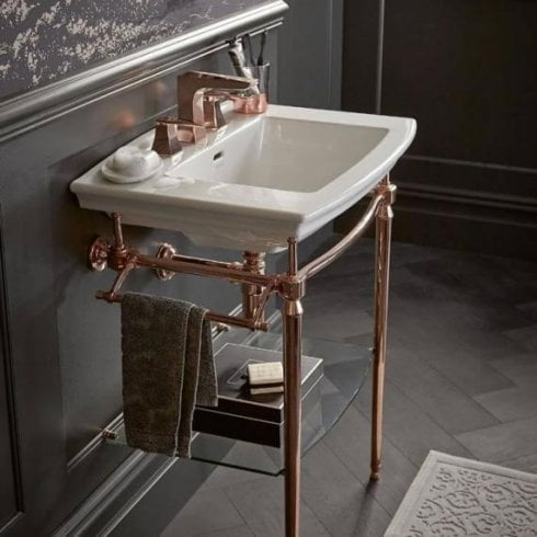 Heritage Bathrooms Abingdon Dorchester Wash Stand Rose Gold